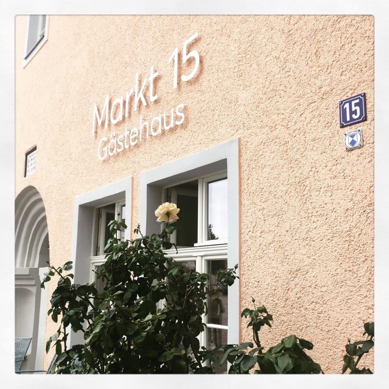 Markt 15 - Gästehaus Eingang